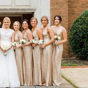 SORELLA VITA Dresses - Gold sequin gown